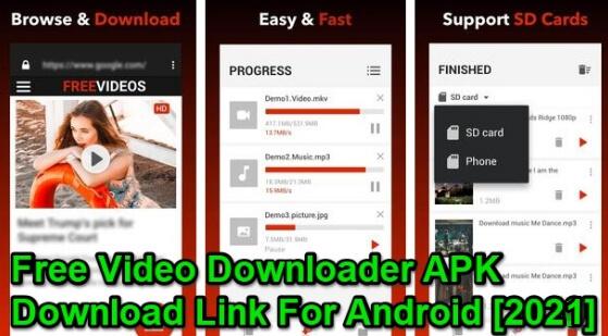 Free Video Downloader pro apk 2021