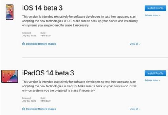 ios 14 beta 4 and ipados 14 beta 3 without developer account