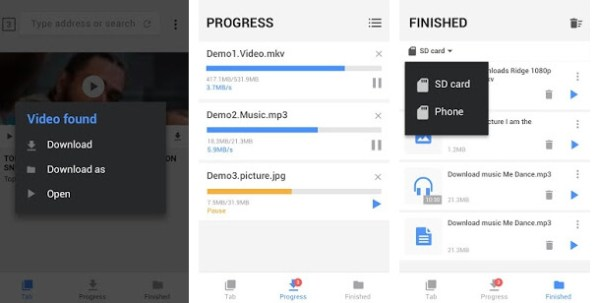 video downloader app screenshots