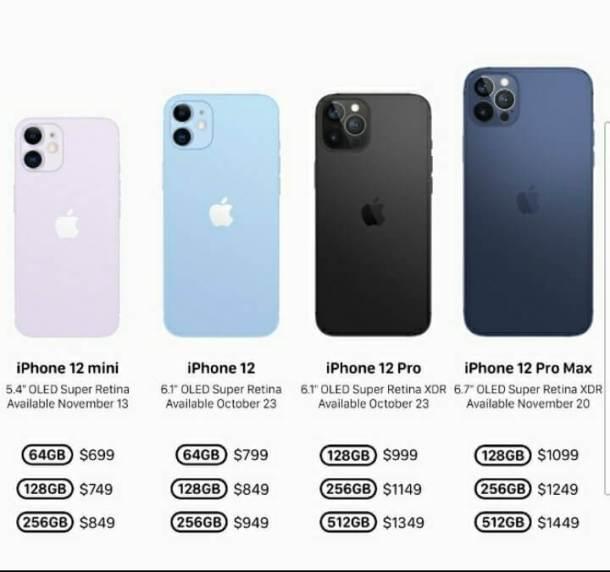 iphone 12 prices