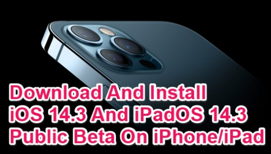 download and install ios 14.3 beta ipados14.3 beta