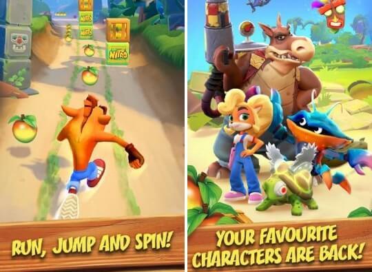 crash bandicoot on the run apk screenshots