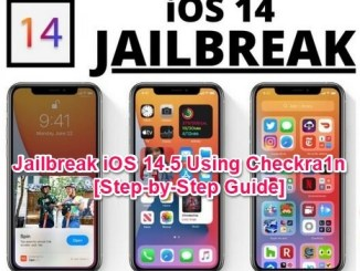 jailbreak ios 14.5 using checkra1n