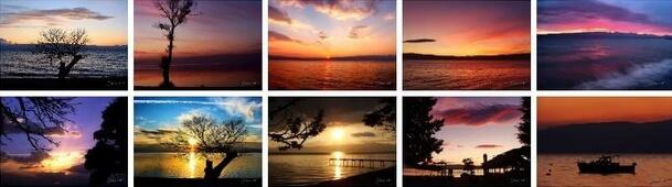 lake ohrid sunsets theme windows 10