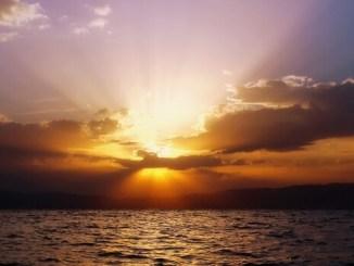 lake ohrid sunsets theme