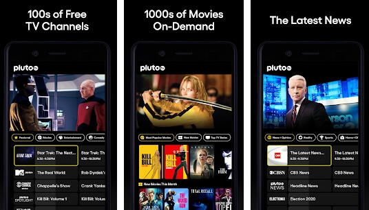 pluto tv apk screenshots