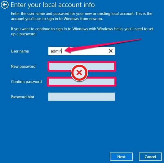 remove login password windows 10