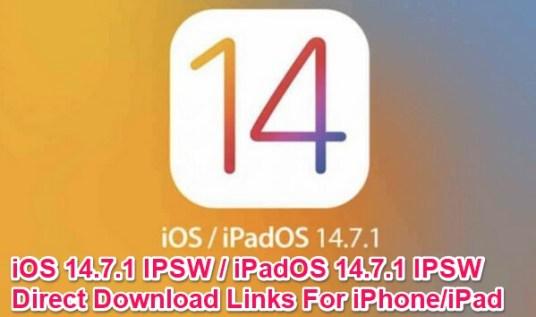 ios 14.7.1 ipsw