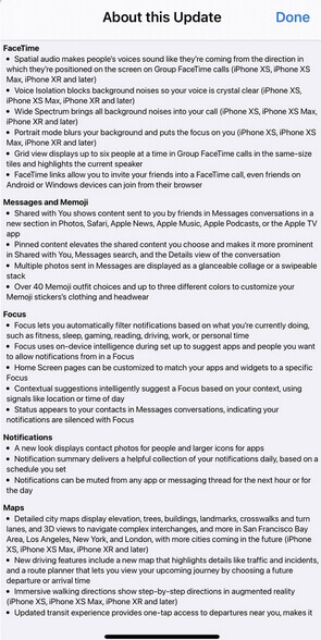 ios 15 release notes
