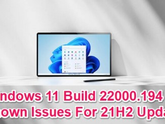 windows 11 22000.194 known issues