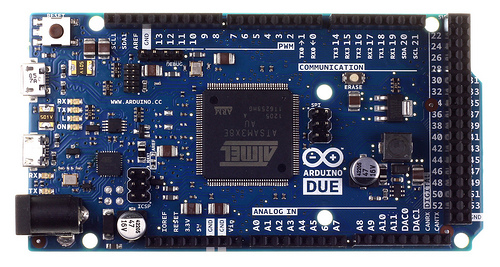 Arduino Due image is copyrighted by Arduino