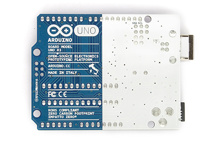 Arduino Uno Tampak Belakang