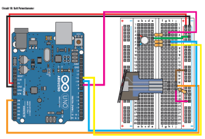 Circuit 10: Soft Potentiometer | I400 Arduino Project: by
