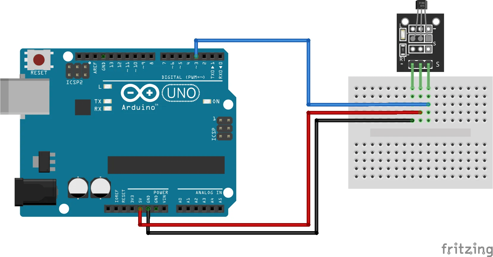 Arduino Hall Effect Sensor Circuit