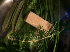 first 'layer' of flavour, cheese and herbs