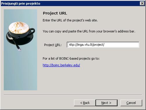 Enter Project URL