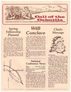 February 1979 Call of the Cahuilla