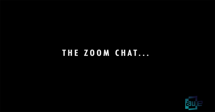 The ZOOM chat