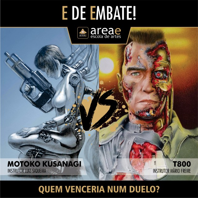 Motoko Kusanagi (Ghost in the Shell) vs. T800 (Exterminador do Futuro)