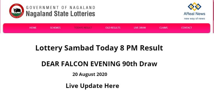 Nagaland State Today Lottery Result DEAR FALCON EVENING 90th