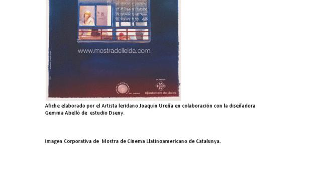 Del 6 al 13 de junio: 25 Mostra de Cine Latinoamericano en Lleida