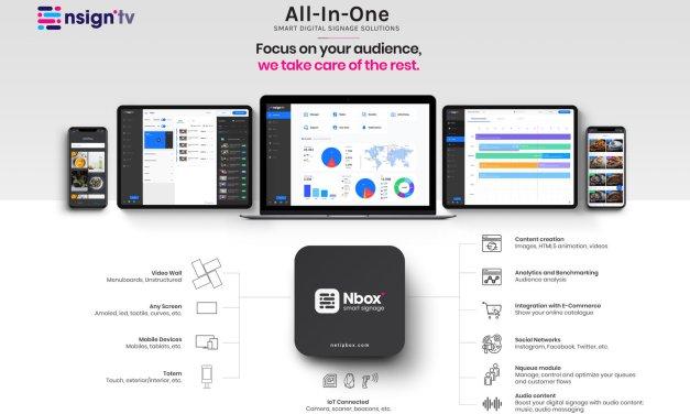 Netipbox Technologies debuta en ISE y presenta Nsign.tv, su plataforma SaaS all-in-one de comunicación digital inteligente