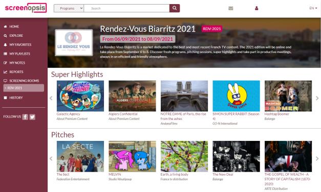 Le Rendez Vous de Biarritz: el escaparate del audiovisual francés vuelve a celebrarse virtualmente