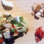 fresh courgette and mozzarella salad