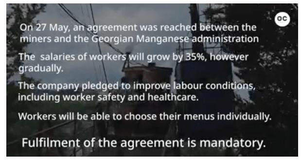 chiatura miner agreement