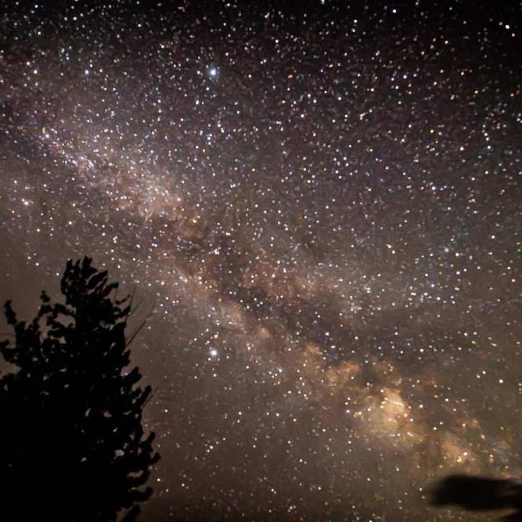 Milky way photo over Glacier Mountain National Park