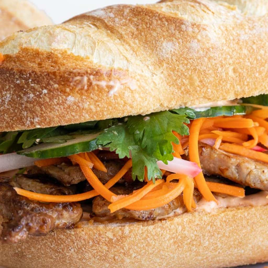 delicious banh mi pork tenderloin sandwiches