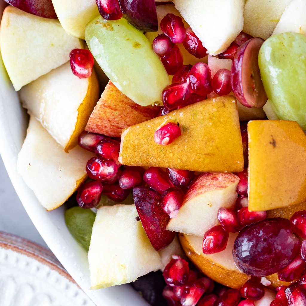 fall fruit salad with pears