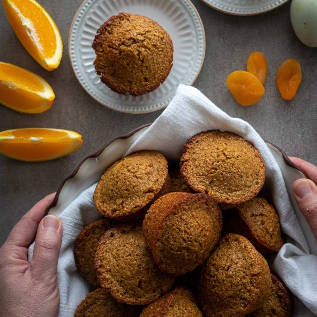 Bran Muffins with Dried Apricots
