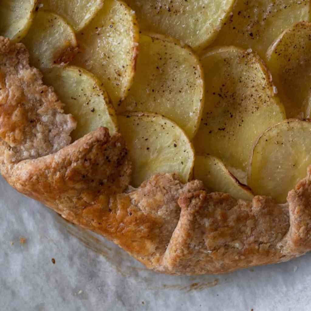 Simple Potato and Gruyere Galette