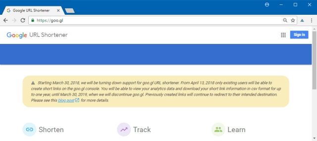 spinonews Google's URL Shortening Tool