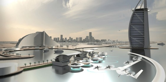 first flying taxi concept