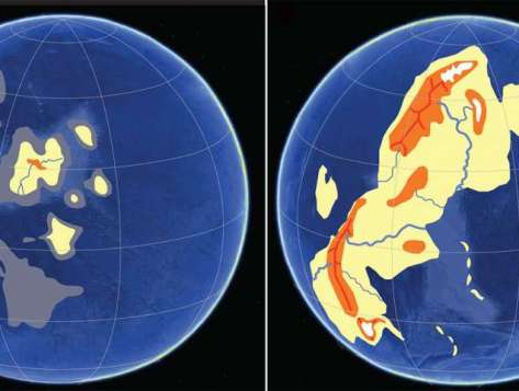 changes of earth untill 2.4 billion years ago