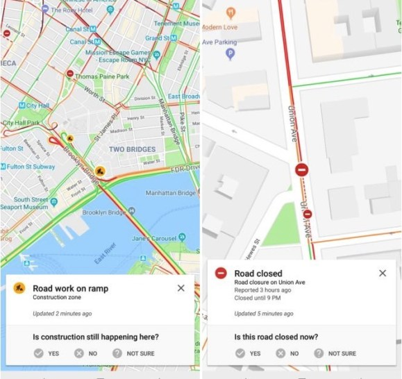 Waze incident reporting feature
