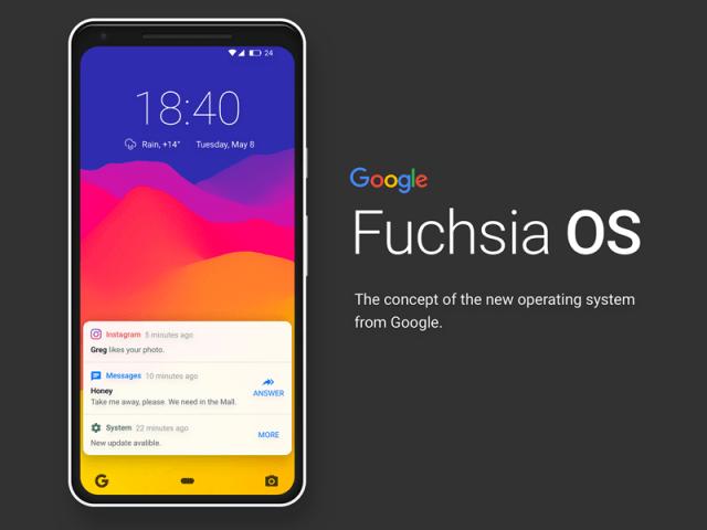 areflect Fuchsia OS