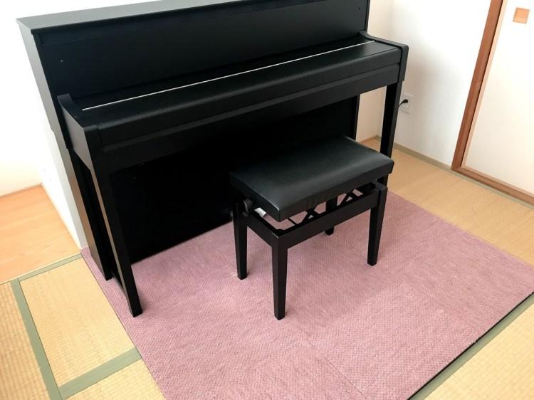 電子ピアノと防振マット