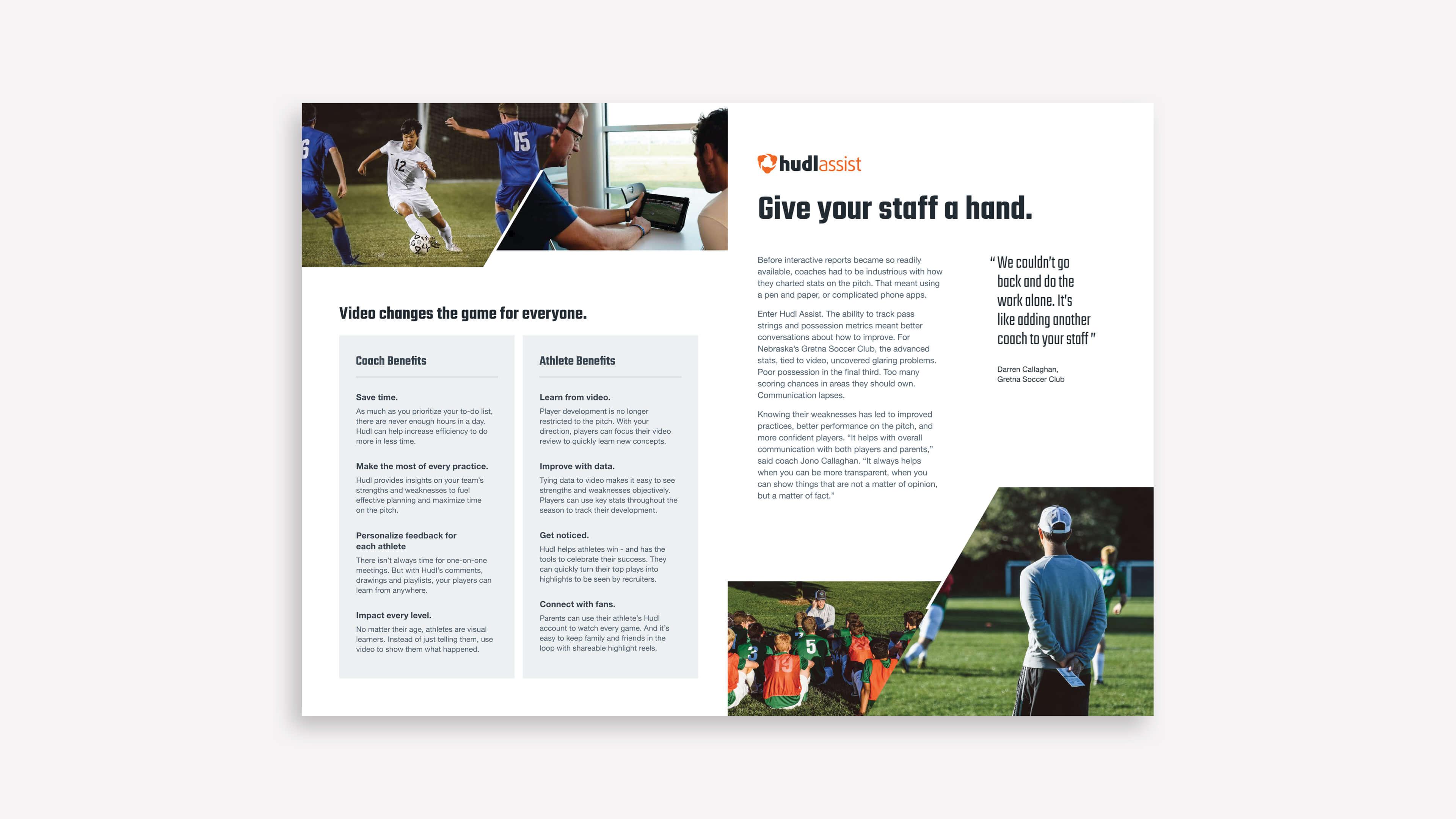 Club Soccer Booklet Spread
