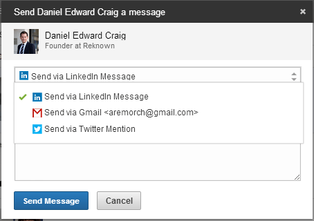 LinkedIn Contacts Message