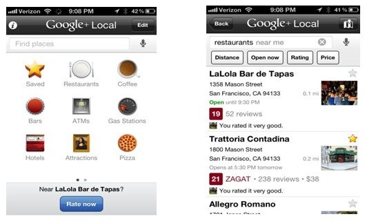 Google+ Local App