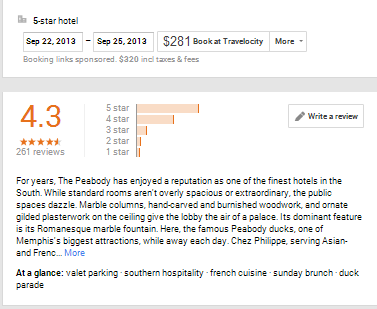 Five Star Rating Google+