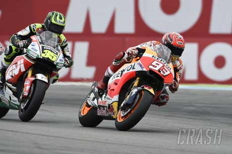 Cal Crutchlow Vs Marquez - Crash.net