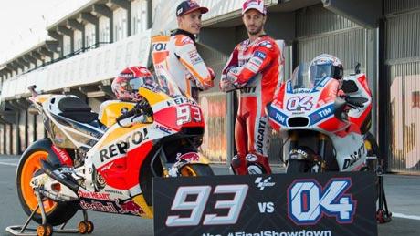 Marc Marquez dan Andrea Dovizioso (Foto: Mirco Lazzari gp/Getty Images)