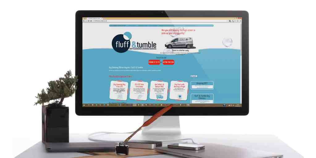 Fluff and Tumble dry cleaners use us for web design andsocial media marketing