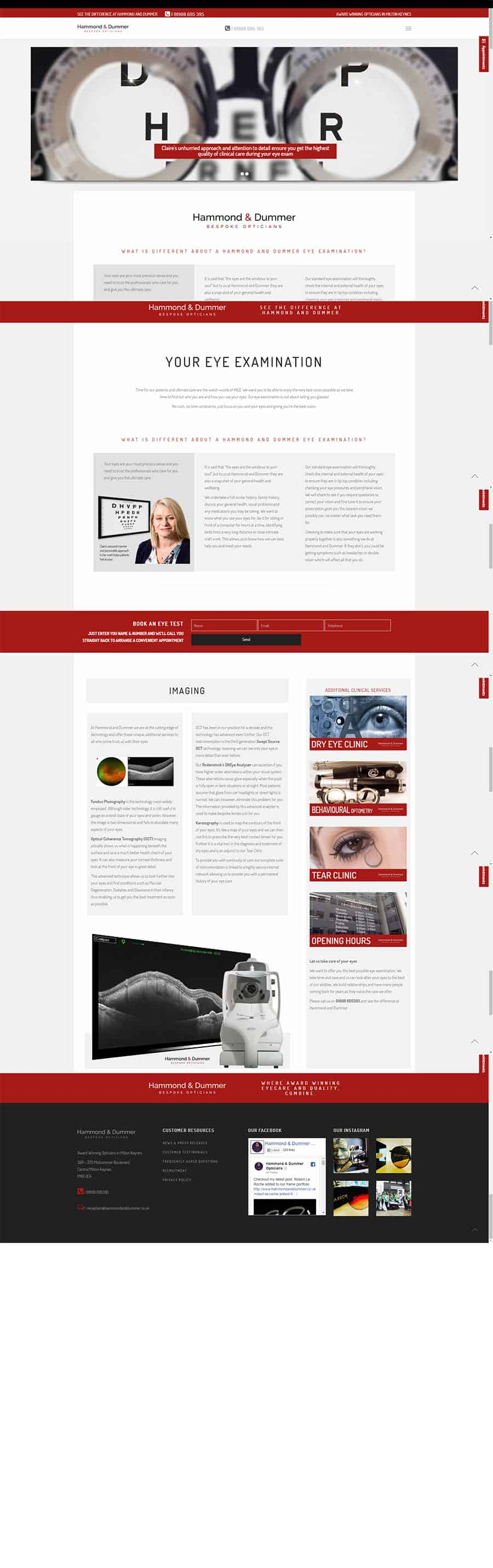 Web design screen capture