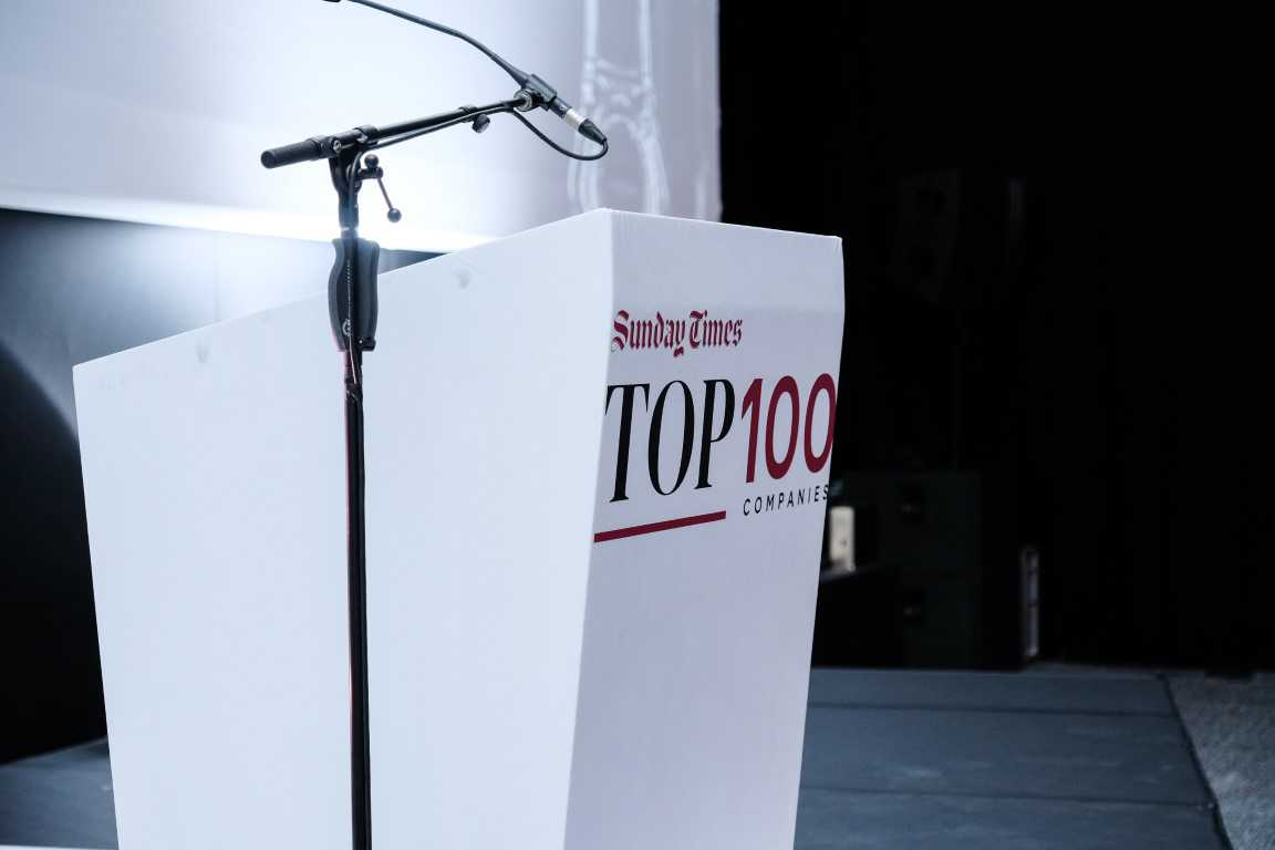 Photo from Sunday Times Top 100 Companies Awards in 2016
