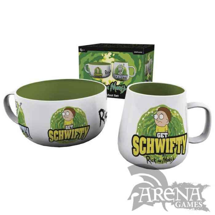 Set de regalo Rick and Morty taza+bol - Get Schwifty